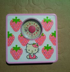 RARE Hello Kitty Pink Metal Bath Weight Scale Bathroom 2002 Sanrio Co Used | eBay
