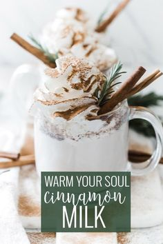 Warm Milk and Cinnamon is the perfect hot drink for the winter months. The combination of creamy milk, sweet sugar, and spicy cinnamon will warm your soul.    Oh So Delicioso