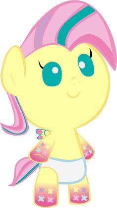 Cute Rainbow Power Fluttershy
