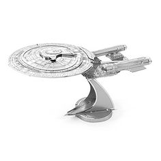 $15, These metal Star Trek Kits are some of the coolest models we've ever seen. They are small, they are metal, and you have to totally put them together yourself. No glue needed - just lots of patience!