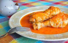 La receta de los jamoncitos de pollo con salsa de pimientos morrones que os propongo hacer hoy, es de ésas que, cuando se la veía hacer a mi madre en casa, y
