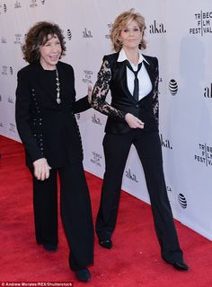 Jane Fonda and Lily Tomlin talk Grace And Frankie at Tribeca panel #dailymail