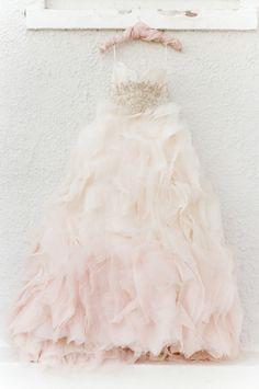 Blush ombre gown of our dreams! http://www.stylemepretty.com/2015/07/15/romantic-spanish-inspired-wedding-inspiration/ | Photography: Tamara Gruner - http://www.tamaragruner.com/