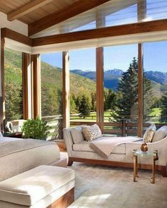Captivating modern-rustic home in the Colorado mountains - - This captivating and expansive three-story modern mountain home with rustic nuances has been designed by Suman Architects, located in Vail, Colorado. Home Design, Modern House Design, Home Interior Design, Design Ideas, Interior Colors, Interior Trim, Design Design, Mountain Home Interiors, Modern Mountain Home