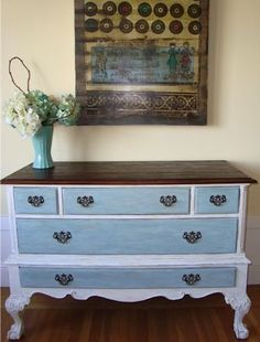 San Francisco: DIVINE Dresser! Classic Old Beauty with 5 Drawers and Claw Feet  $385 - http://furnishlyst.com/listings/870752
