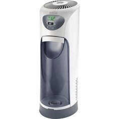White Cool Mist Tower Humidifier Dishwasher-safe base Filter Check monitor  Designed for medium size rooms Runs up to 36 hours per tank filling AccuSet digital humidistat Filter Check monitor Dishwasher-safe base Model# SCM630WC-UM