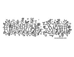 Glitter Slut  Swear Words Coloring Page from the by swearybook