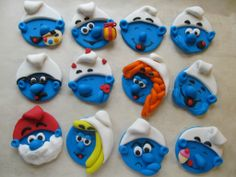 Smurf Cupcake Toppers