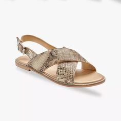 Ploché kožené sandále, hadí vzor   blancheporte.sk #blancheporte #blancheporteSK #blancheporte_sk  #shoes #topanky #kozenaobuv #koze Python, Espadrilles, Sandals, Shopping, Shoes, Products, Fashion, Girls Shoes, Flat Sandals