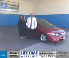 Congratulations to Jacqueline Houston on your #Honda #Civic purchase from Jose Bosquez  at Honda of Denton! #NewCar