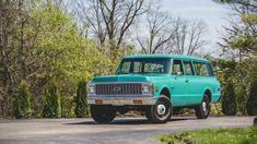 Chevrolet Suburban, Chevrolet Trucks, Amc Javelin, Transfer Case, Rear Ended, Interior Trim, New Green, Automatic Transmission, Old Cars