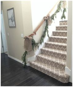 Farmhouse staircase runner banisters 58 New Ideas Stair Banister, Staircase Runner, Stair Runners, Stair Rods, Railings, Bannister, Austin Texas, Carpet Diy, Carpet Ideas