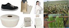 Piñatex™, un material textil obtinut din fibrele frunzelor de ananas (pineapple). Ce se poate face cu acest material: http://www.manufacturat.ro/fara-categorie/o-abordare-inovativa-pinatex-via-pineapple/