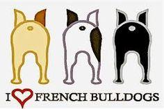 'I ❤ French Bulldogs', Illustration, poster. princessdianevonbrainisfried.com