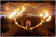 Wedding Inspiration - Fire show at wedding reception by FireTribe - ZaraZoo Photography