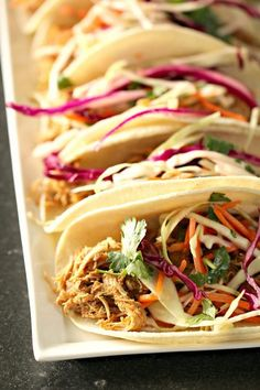 The BEST Slow Cooker Pork Tacos from Food Bloggers found on Slow Cooker or Pressure Cooker at SlowCookerFromScratch.com