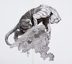 Frank Frazetta, Saber tooth on a rock, Tarzan at the Earth's Core, Canaveral Press fep. Frank Frazetta, Tarzan, Ink Illustrations, Illustration Art, Bd Art, Street Art Utopia, Sword And Sorcery, Art Graphique, Comic Artist
