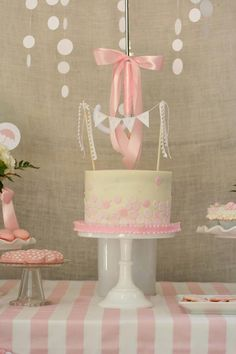 Rain Themed Pink Baby Sprinkle Baby Shower (but blue)