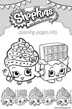 Print Shopkins Kooky Cookie Shoppies Coloring Pages See More Cupcake Queen Cheeky Chocolate Love
