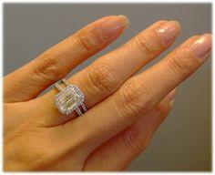 Tiffany Soleste with an emerald cut diamond 2.87 ct, E, VVS2