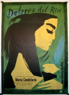Polish movie poster for Mexican film Maria Candelaria, 1944