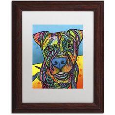 Trademark Fine Art Maccabee Canvas Art by Dean Russo, White Matte, Wood Frame, Size: 16 x 20, Brown