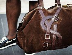 Yves Saint Laurent -Suede Duffel Bag
