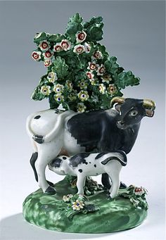 Vintage Cow And Her Calf Figurine