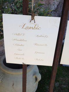 Nome tavolo di matrimonio - stile di birra
