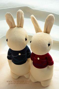 Grace--#267+#268 Sock Domy Rabbit
