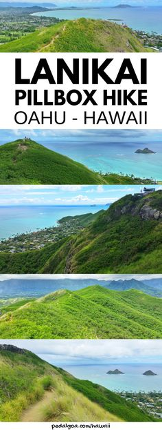 Lanikai Pillbox Hike: Best Oahu hikes with scenic views of islands and Kailua. Hiking trails in Hawaii. For day activities and things to do from Waikiki and Honolulu on Hawaii vacation, head to Kailua, windward Oahu. Pillbox hike trail summit has ocean views of Kailua Bay, Mokulua Islands, Oahu beaches. Put hiking gear on Hawaii packing list of what to wear hiking when you travel to Hawaii! After, go snorkeling at famous Lanikai Beach! #oahu #hawaii