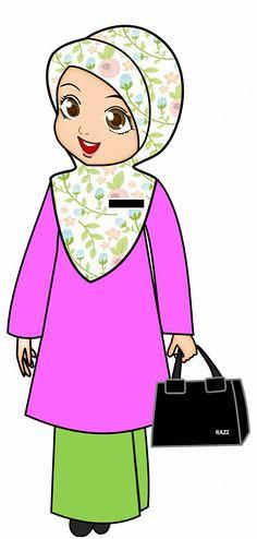 Student Cartoon, Teacher Cartoon, School Cartoon, Doodle Girl, Iphone Wallpaper Video, Fruit Cartoon, Islamic Cartoon, Anime Muslim, Hijab Cartoon