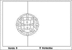 bandeira de portugal para pintar - Pesquisa do Google