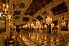 Schloss Eggenberg - The Ballroom in candlelight...