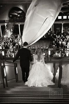 New York City Wedding at American Museum of Natural History, Couple in Museum   Brides.com