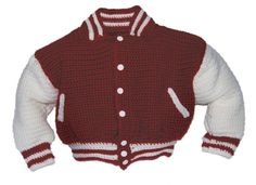 Baseball Jacket Crochet Pattern Baby Boy Crochet Pattern
