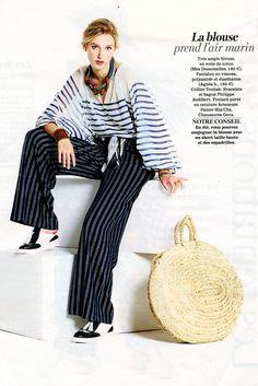 Mes Demoiselles... Paris • Matthew Blouse • VERSION FEMINA France • January 2017 #mesdemoiselles #springsummer #collection #S17 #fashion #stripes #blue #matelot #mode #spring #mesdemoisellesparis