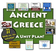 Ancient Greece Unit: 11 engaging lessons to excite your classroom on your study of Ancient Greece! **Updated to include Alexander the Great!**