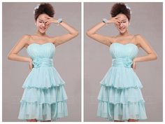 Strapless Pleated Cocktail Dress 150601tb03 http://www.ckdress.com/strapless-pleated-cocktail-dress-150601tb03-p-  618.html  #wedding #dresses #dress #lightindream #lightindreaming #wed #clothing   #gown #weddingdresses #dressesonline #dressonline #bride