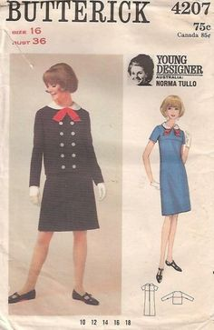 Young Designer: Norma Tullo Butterick 4207, size 10, bust 31, unused