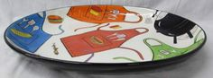 shopgoodwill.com: Clay Art Hand Painted Grill Time Serving Platter