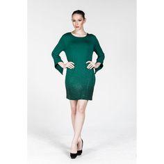 Plus size Green Long Sleeve Dress