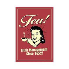 http://teatra.de playful: Fun retro tea poster.
