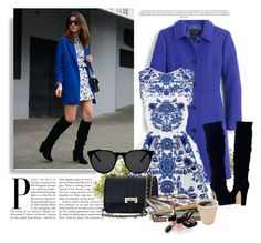 """Blue :)"" by cherry-bh ❤ liked on Polyvore featuring J.Crew, Smoke & Mirrors, Aspinal of London, Nearly Natural and Chanel"