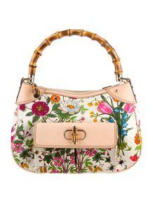 Gucci Flora Bamboo Handle Bag
