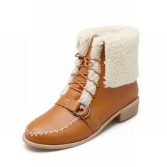 Latasa Women's Fashion Cute Thick Velvet Lined Buckle Decorated Chunky Heel Ankle High Snow Cold Weather Winter Boots * You can find out more details at the link of the image.