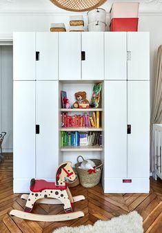 Kid Spaces, Small Spaces, Ikea Stuva, Creative Kids Rooms, Small Space Interior Design, Space Interiors, Girls Bedroom, Bedroom Ideas, Bookshelves
