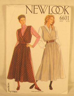 Womens Clothing Pattern Dress Surplice Full Sleeveless NEW LOOK 6601 Size 8-20 #NewLook