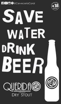 Cerveza QUERIDA de Cerveceria Coral       @CervezaQuerida     #cerveceriacoral #cervezaartesanal   #CervezaQUERIDA  #CervezaQUERIDA Coral, Save Water, Beer, Root Beer, Ale