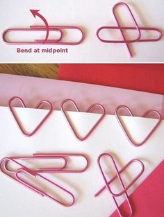 Hearts from paper clips. I might use this to promote valentine some way or another.. hehehe
